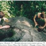 Tauralaukio akmuo mena baltų žynius ir žvaigždes