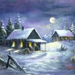 Žiema senajame kaime