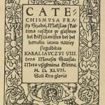 """VU bibliotekoje eksponuojamas M. Mažvydo """"Katekizmas"""""""