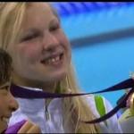 Plaukikės Rūtos Meilutytės auksinė pergalė Londone