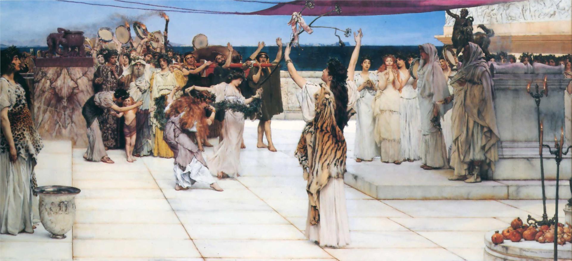 Dedikacija Bacchus sero Lawrence Alma-Tadema, 1889