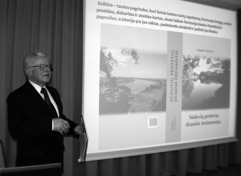 """Kęstutis Subačius pristato savo knygą """"Sūduvių protėvių dvasinis testamentas"""""""