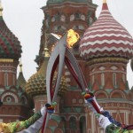Kremliuje buvo trumpam užgesusi olimpinė ugnis