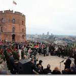 Lietuvos nepriklausomybės atkūrimo dieną apsilankant Gedimino pilyje