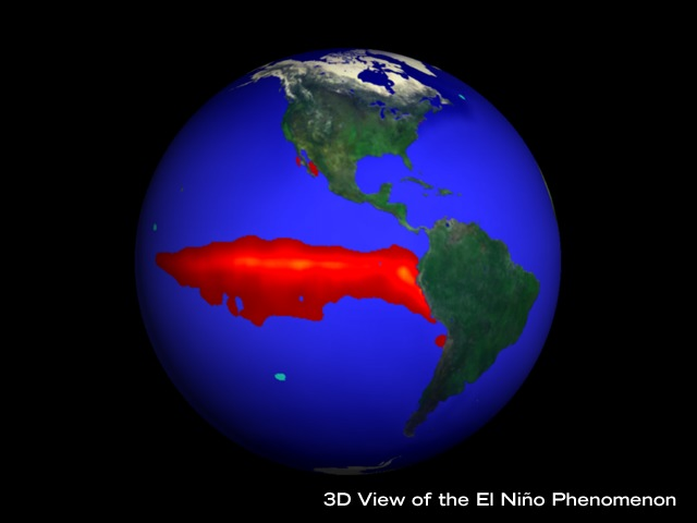2014-ieji bus neįtikėtinai karšti? El Ninjo fenomeno vizualizacija ©phys.ufl.edu
