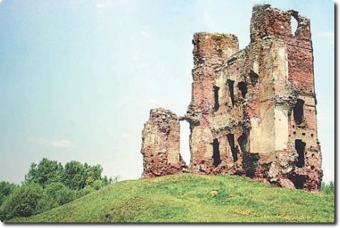 """Smalėnai. Kunigaikščių Sanguškų pilies likučiai (Oršos rajonas, Baltarusija). Knygos """"Didžioji Lietuva"""" nuotrauka"""