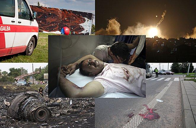 1/3 Pastarosios kelios savaitės Lietuvoje ir pasaulyje buvo itin juodos.lrytas.lt  Montažas.