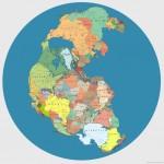 Kaip atrodytų senasis Pangėjos žemynas su dabartinėmis valstybėmis?