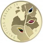Gedimino pilies bokšte – Baltijos kelio 25-mečiui paminėti skirtų monetų pristatymas
