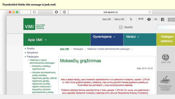 Lietuvių pinigus bando išvilioti VMI vardu prisidengę Izraelio kompanijos klientai