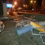 Klaipėdos uostas po stipraus vėjo atnaujina darbą