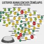 Lietuvos kanalizacijos žemėlapis