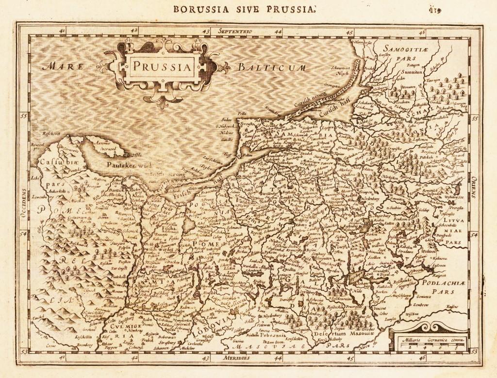 Borussia sive Prussia. Amsterdam, I.E. Cloppenburgh, 1630