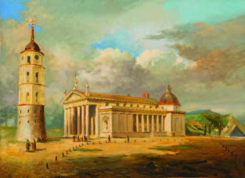Antanas Zaleskis.Katedra su Varpine.LNM