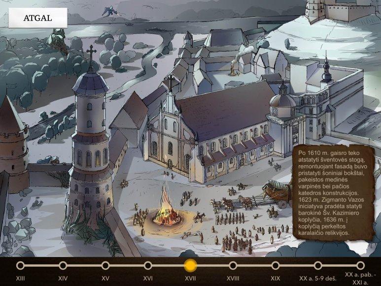 Bažnytinio paveldo muziejaus nuotr. / Projekcija Vilniaus katedros ir varpinės rekonstrukcija
