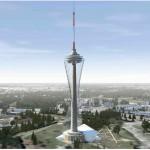Kaip galėtų atrodyti televizijos bokštas po rekonstrukcijos