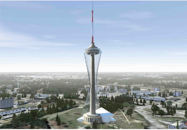 Taip gali atrodyti televizijos bokštas po rekonstrukcijos