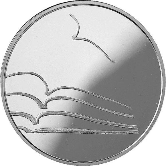 Lietuvos banko nuotr. / Moneta literatūrai (reversas )