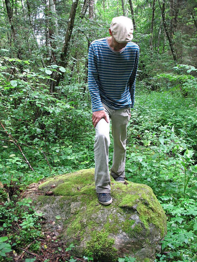 Kauko arba Rizgonių akmuo -- unikalus archeologinis radinys. Iš P.Arlausko asmeninio albumo