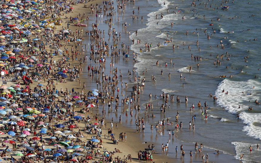 """""""Reuters""""/""""Scanpix"""" nuotr. / Ispanijos paplūdimys"""
