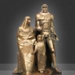 Latvijoje atidengtas paminklas karaliui Mindaugui ir karalienei Mortai