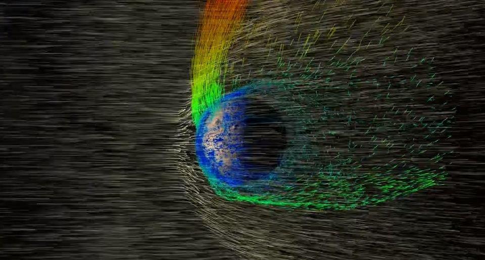 Kadras iš NASA vizualizacijos / Marsas