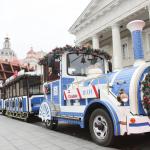 Kalėdinis traukinukas išvažiavo į Vilniaus gatves