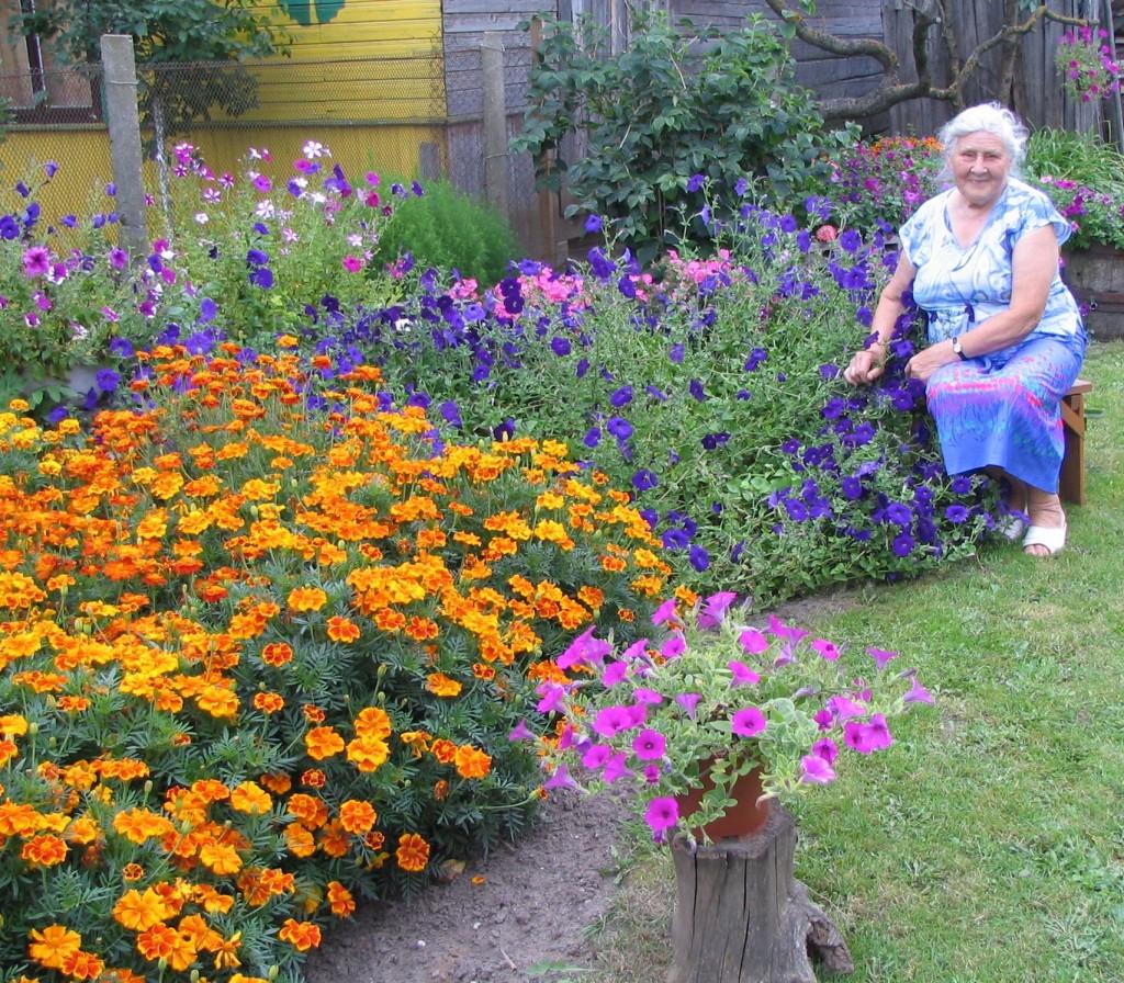 FOTO nedelsk.lt.  Joniškio moterų išpuoselėtų gėlių spalvos. Nuotraukoje  Kalnelio kaimo gyventojos Linos Rudnickienės išpuoselėtas darželis,