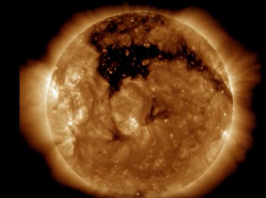 NASA SDO nuotr. / Saulės dėmė