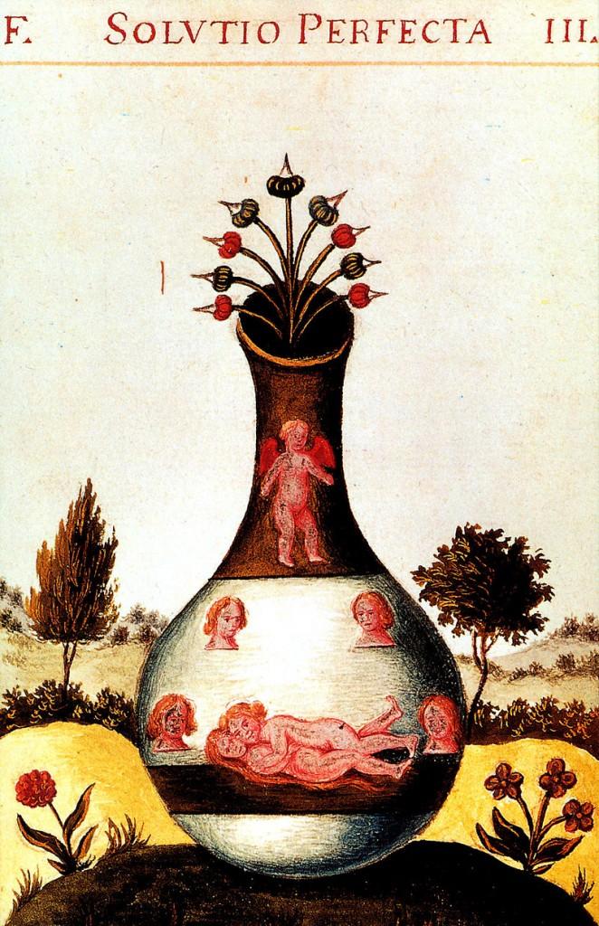 Homunkulas (Pretiosissimum Donum Dei 15th century.)(Brangiausia Dievo dovana, 15 a.)