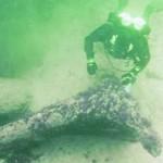 Baltijos jūros dugne aptikti senoviniai žvejybos įrenginio likučiai