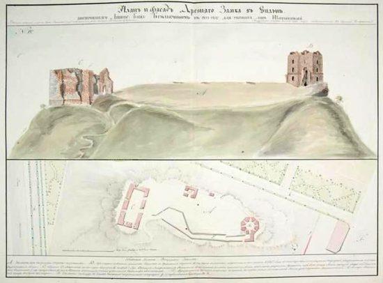 gedimino_pilis_planas_vilniaus_gubernijos_piliu_atlasas-1827-550x406