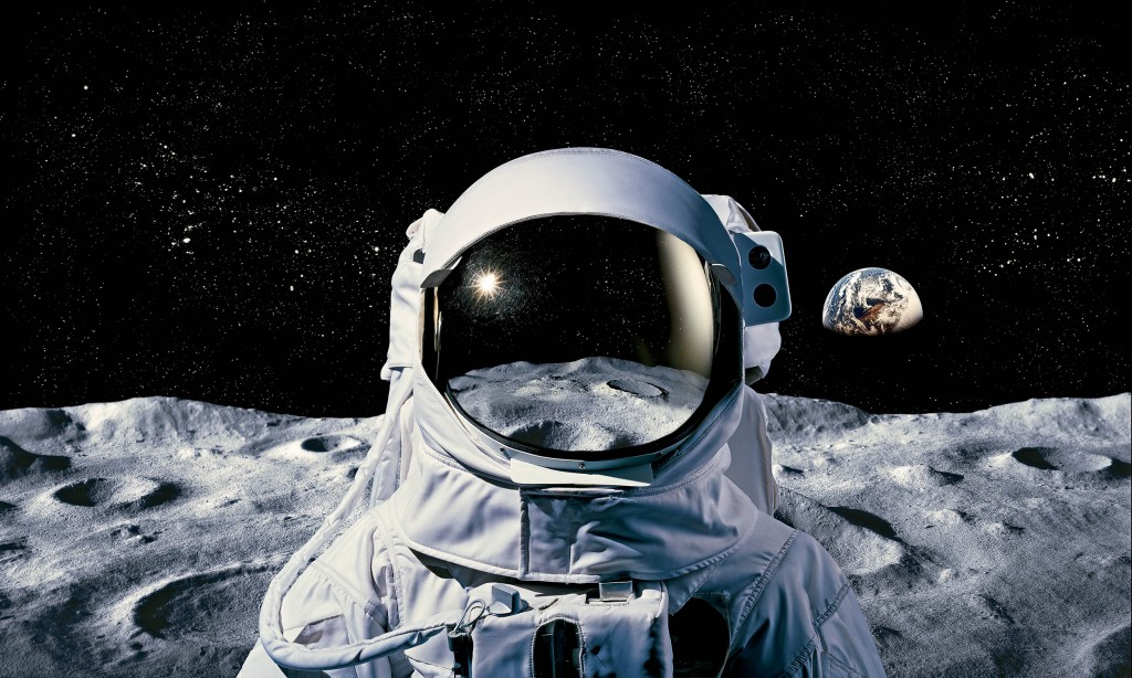 Astronaut on moon.Steve Bronstein/Getty