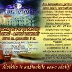 BŪRIMŲ IR PRANAŠYSČIŲ ŠVENTĖ-MUGĖ gruodžio 1 d. Verkių rūmuose