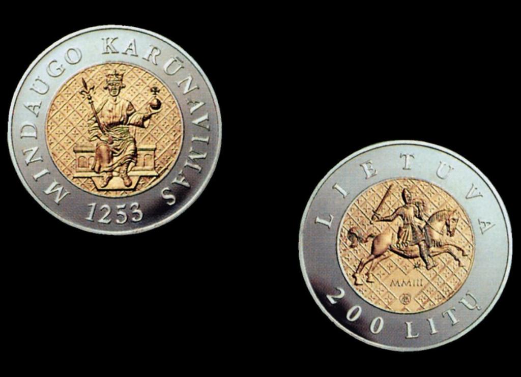 200 litų proginė moneta, skirta Mindaugo karūnavimo 750 metų sukakčiai.
